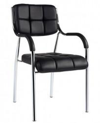 Konferencijska stolica 05-1 od eko kože - Crna