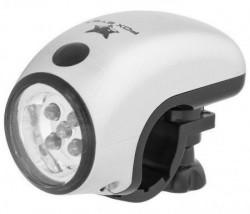 Lampa prednja JingYi 2 funkcije 5 LED silver ( 190097 )