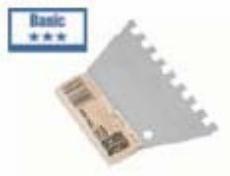 Lux špahla nazubljena C4 8X8 mm ( 577192 )