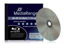 MediaRange BLU-RAY RW DISK 25GB BD-RE 2X JC - MR491