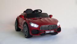 Mercedes 919 - Crveni Auto na akumulator sa kožnim sedištem i mekim gumama + funkcija ljuljanja