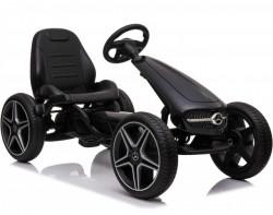 Mercedes Licencirani Karting - Formula na pedale sa mekim gumama - Crna