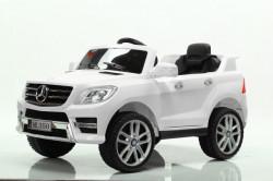 Mercedes ML 350 Licencirani auto na akumulator sa kožnim sedištem i mekim gumama - Beli