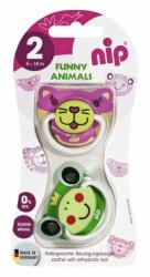 Nip laža Funny Animals, silikon 5 -18m, 2kom ( A008295 )