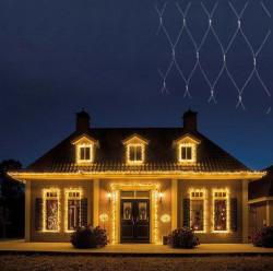 Novogodišnji ukrasi - Spoljašnja novogodišnja LED svetleća mreža 300x300cm Toplo bela Lumineo Icicle ( 494883 )