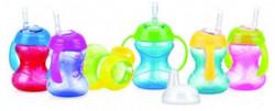 Nuby čaša sa slikonskom slamčicom i ručkama no spill 9m+ 240ml ( 0280084 )