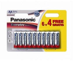 Panasonic LR6EPS/10BW-AA 10 kom 6+4F Alkalne Ever baterije ( 023906351 )