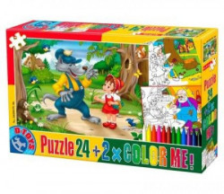 Puzzle 24 + color me Fairy tales 06 ( 07/50380-06 )