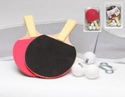 Set za stoni tenis - reketi sa mrežicom i lopticama ( 004332 )