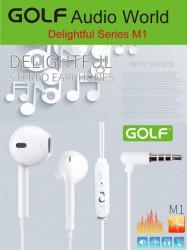 Slušalice + mikrofon GOLF M1 bele ( 00G21 )