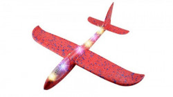 Toy plane 48cm Red with light ( 036582 )