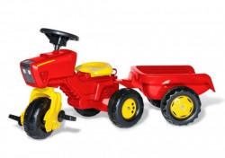 Traktor trike sa prikolicom - crveni ( 052745 )