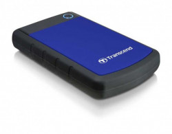 "Transcend 1TB External USB 3.0 2.5"" Anti-shock Black/Blue ( TS1TSJ25H3B )"