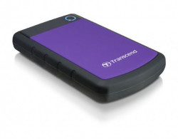 "Transcend TS2TSJ25H3P External HDD 2 TB USB 3.0 2.5"" Anti-shock system, Backup software Black/Pur"