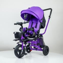 Tricikl Playtime 413 RELAX sa rotirajućim sedištem - Ljubičasti