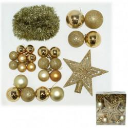 Ukrasni set - kuglica, girlanda,vrh, zlatni ( 51-962000 )