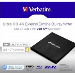 Verbatim 43388 Ultra HD4K Eksterni Blu-Ray USB-C CRN+software ( DVD43888 )