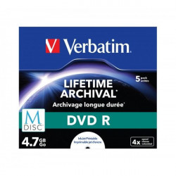 "Verbatim M-Disc ""KAMENI"" printable 4.7GB 4X 43821 jewel case ( 554MP/Z )"