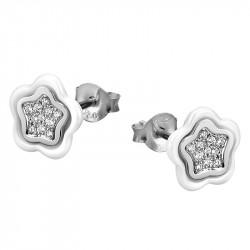 Ženske Lotus Silver Ceramic Zvezda srebrne Mindjuše