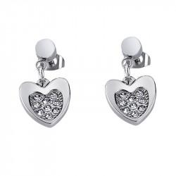 Ženske Lotus Style Woman's Heart Kristalno Srce Mindjuše od hirurškog čelika