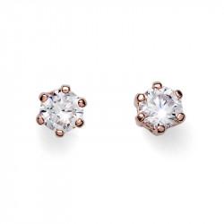 Ženske Oliver Weber Brilli Small Rose Gold Crystal Roze Zlatne mindjuše sa swarovski rozim kristalom