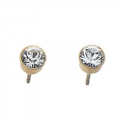 Ženske Oliver Weber Soon Gold Crystal Zlatne mindjuše sa swarovski belim kristalom