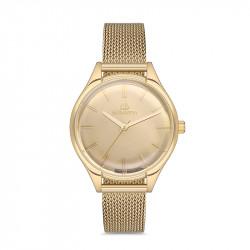 Ženski Bigotti zlatni elegantni ručni sat sa zlatnim pancir kaišem