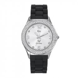 Ženski Girl Only Cristaux Beli Modni ručni sat sa crnim gumenim kaišem