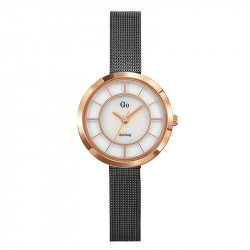 Ženski Girl Only Eblouis moi Roze Zlatni Modni Beli ručni sat sa sivim pancir metalnim kaišem