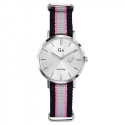 Ženski Girl Only Seduis moi Beli Elegantni ručni sat sa nato roze sivim kaišem