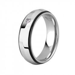 Ženski Lotus Style Steel Rings prsten od hirurškog čelika sa kristalom 52