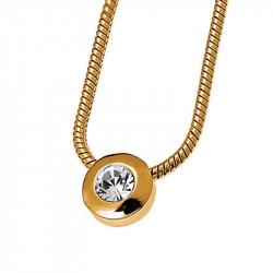 Ženski Oliver Weber Diamond Gold Crystal Lančić sa swarovski belim kristalnim priveskom