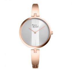 Ženski Pierre Ricaud Quartz Sivi Roze Zlatni Elegantni Ručni Sat Sa Roze Zlatnim Metalnim Kaišem