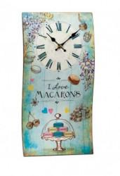 Zidni sat Talas I Love Macarons 40x21cm ( 35845_3 )