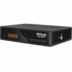 Amiko DVB mini combo DVB-S2+T2/C, HEVC/H.265, Full HD,USB PVR,LAN