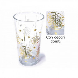 Art from Italy f80.14.75 čaša sa dekoracijom u zlatnoj boji 440ml