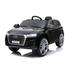 Audi Q5 2019 Licencirani auto na akumulator sa kožnim sedištem i mekim gumama - Crni