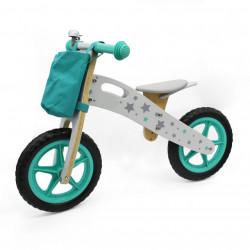 Balance Bike 755 Drveni Bicikl bez pedala za decu - Zeleni