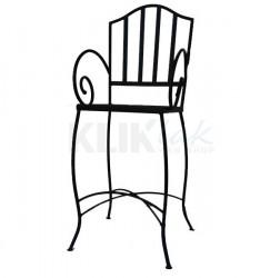 Barska stolica - BS Antik - metalno sedište