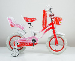 """Bicikl 12"""" sa pomoćnim točkovima model 716 - crvena/narandzasta"""