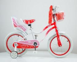 """Bicikl 16"""" sa pomoćnim točkovima model 716 - crveno/narandzasta"""