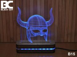Black Cut 3D Lampa jednobojna - Helmet ( B15 )