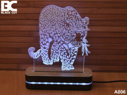 Black Cut 3D Lampa jednobojna - Jaguar ( A006 )