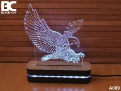 Black Cut 3D Lampa sa 9 različitih boja i daljinskim upravljačem - Orao ( A009 )