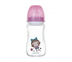 Canpol baby flašica 240ml široki vrat, antikolik - easy start- toys pink doll ( 35/221_pin )