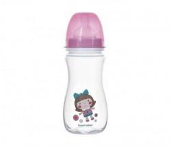 Canpol baby flašica 300ml široki vrat antikolik - easy start- toys doll - pink ( 35/222_pin )
