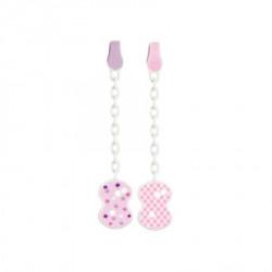 Chicco plastični lančić za lažu, roze ( A049946 )