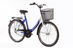 "CITY Bicikla V-Bike Lux 26"" plava/bela ( 460099 )"
