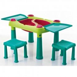 Curver sto dečiji sa dve stolice set, tirkizna/svetlo zelena ( CU 231593 )