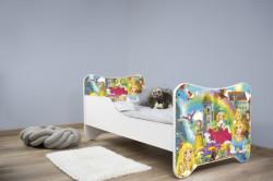 Dečiji krevet 140x70 cm happy kitty PRINCESSES ( 7543 )